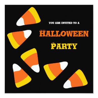 """Candy Corn Craze Halloween Party Invitation 5.25"""" Square Invitation Card"""