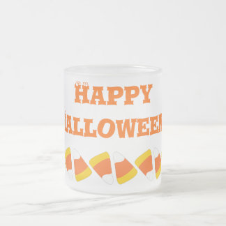 Candy Corn Craze Happy Halloween Frosted Mug