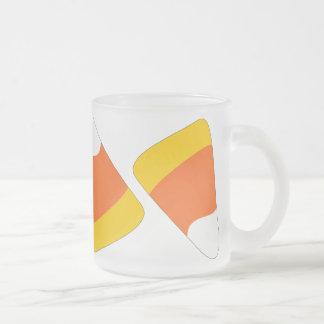 Candy Corn Craze Pattern Frosted Mug