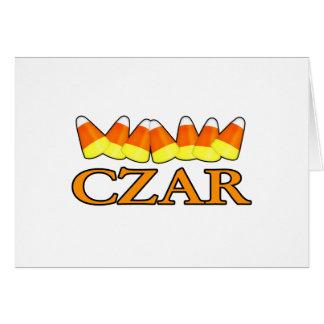 Candy Corn Czar Card