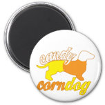 Candy Corn Dog 2 Inch Round Magnet