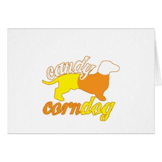 Candy Corn Dog Card