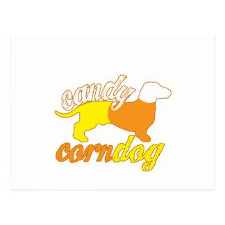 Candy Corn Dog Postcard