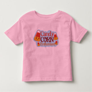 Candy Corn Enthusiast (clean design) Toddler T-shirt