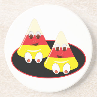 Candy Corn Faces Drink Coaster