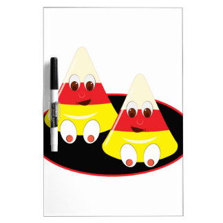 Candy Corn Faces Dry-Erase Board