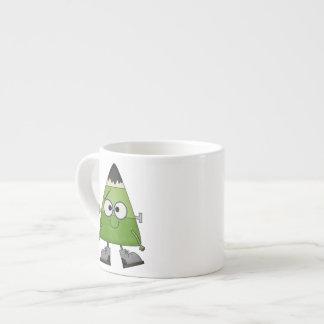Candy Corn Frankenstein Halloween Espresso Cup