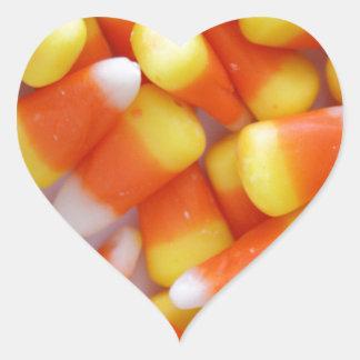 Candy Corn Galore Heart Sticker