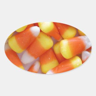 Candy Corn Galore Oval Sticker