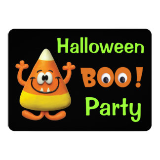 Candy Corn Halloween Boo Party Card