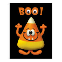 Halloween birthday cards greeting photo cards zazzle candy corn halloween boo party bookmarktalkfo Image collections