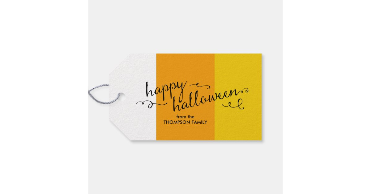 Halloween Gift Tags.Candy Corn Halloween Gift Tags Zazzle Com