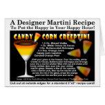 Candy Corn Halloween Martini Recipe Card