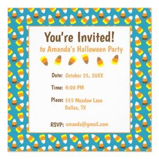 Candy Corn Halloween Party Invitation