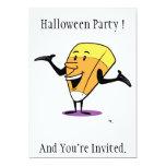 "Candy Corn Halloween Party Invitation 5"" X 7"" Invitation Card"