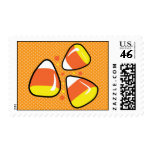 Candy Corn Halloween Postage Stamps