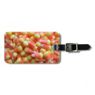 Candy Corn Halloween Travel Bag Tags