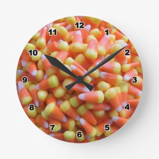 Candy Corn Halloween Wall Clocks