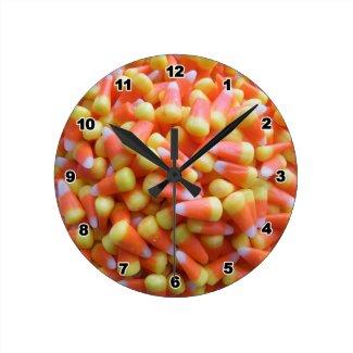 Candy Corn Halloween Wall Clocks