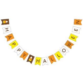Candy Corn Happy Halloween bunting banner