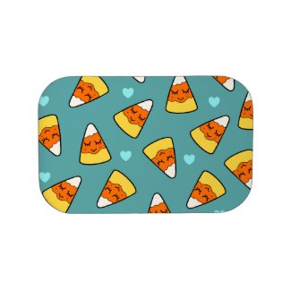 Candy Corn Heart Kawaii Illustration Pattern Lunch Box
