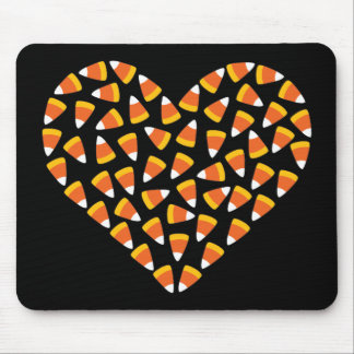 Candy Corn Heart Mouse Pad