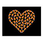 Candy Corn Heart Post Card