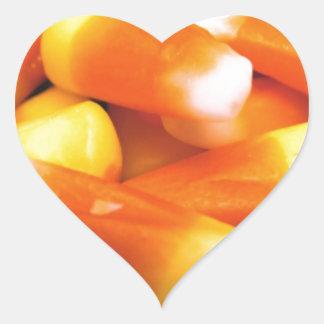 Candy Corn Heart Sticker