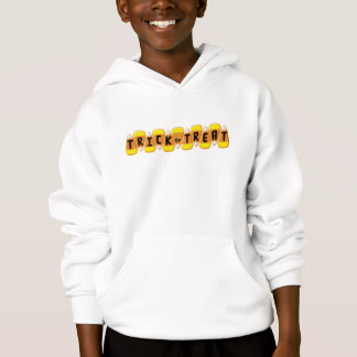 Candy Corn Line Trick or Treat Halloween Hoodie