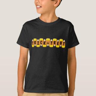 Candy Corn Line Trick or Treat Halloween T-Shirt