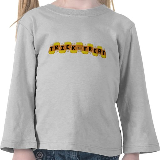 Candy Corn Line Trick or Treat Halloween Tee Shirt