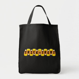 Candy Corn Line Trick or Treat Halloween Tote Bag