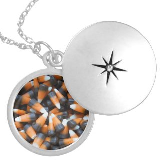 Candy Corn Locket Necklace