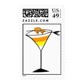 Candy Corn Martini Stamp