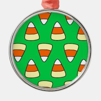 Candy Corn Metal Ornament