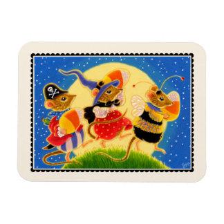 Candy Corn Mice Halloween Magnet