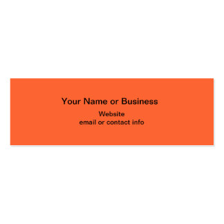 Candy Corn Mini Bookmark Business Card