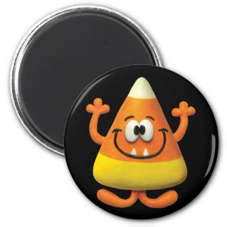 Candy Corn Monster 2 Inch Round Magnet