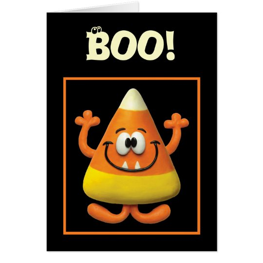 Candy Corn Monster Card