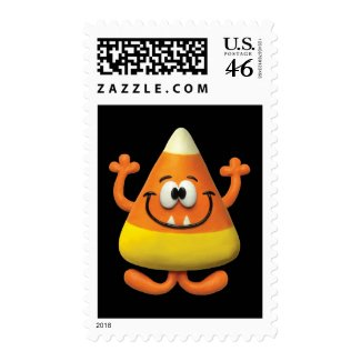 Candy Corn Monster Postage Stamp
