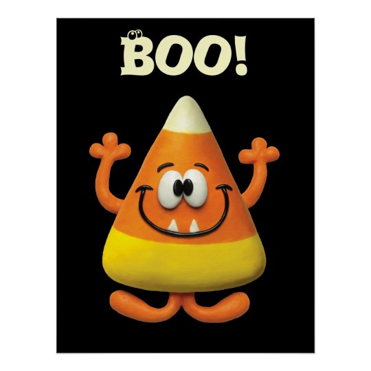 Candy Corn Monster Poster