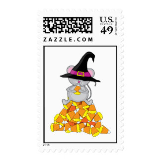 Candy Corn Mouse Postage Stamp