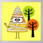 Candy Corn Mummy Halloween Print