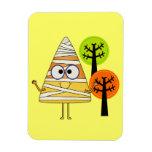 Candy Corn Mummy Halloween Vinyl Magnets