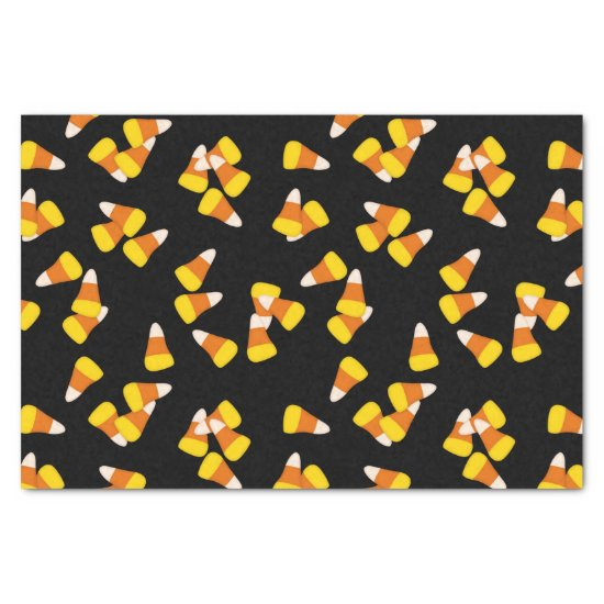 candy corn pattern Halloween gift wrapping Tissue Paper