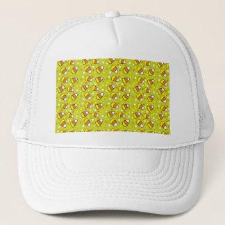 Candy Corn Pattern in Green Trucker Hat