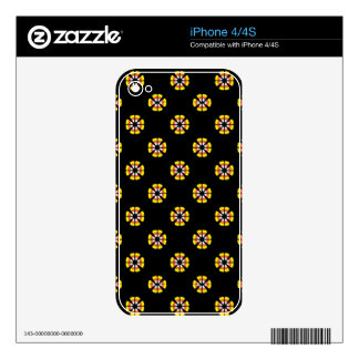 Candy Corn Pattern iPhone 4S Decal