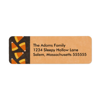 Candy Corn Personalized Halloween Address Labels