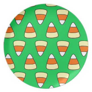 Candy Corn Party Plate