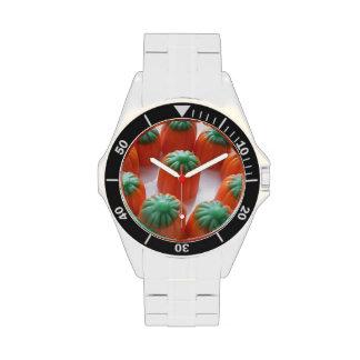 Candy Corn Pumpkin Shaped Wristwatches